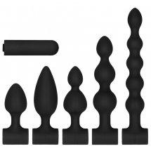 Черный анальный вибронабор USB-Rechargeable Anal Set