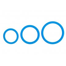 Набор из 3 голубых эрекционных колец Cock Ring Set