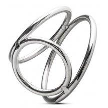 Серебристое эрекционное кольцо Sinner Metal Cock and Ballring Size M