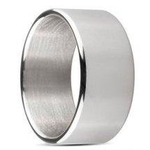 Серебристое эрекционное кольцо Sinner Wide metal head-ring Size S
