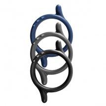 Набор из 3 разноцветных эрекционных колец Power Up с шипами и усиками