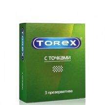 """Текстурированные презервативы Torex """"С точками"""" - 3 шт."""