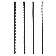 Набор из 4 стимуляторов уретры Silicone Spiral Screw Plug Set Advanced
