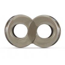 Дымчатое кольцо-восьмерка Cock Ring and Ball Strap