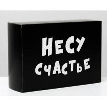 """Складная коробка """"Несу счастье"""" - 16 х 23 см."""