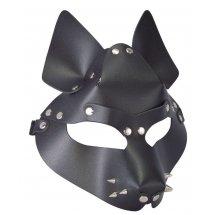 Черная маска Wolf с шипами