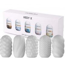 Набор из 5 мастурбаторов Hedy X5 Mixed