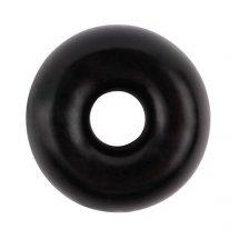Черное эрекционное кольцо-бублик Fat O Cock Ring #2