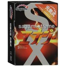 Презервативы Sagami Xtreme ENERGY с ароматом энергетика - 3 шт.
