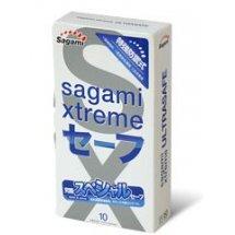 Презервативы Sagami Xtreme Ultrasafe с двойным количеством смазки - 10 шт.