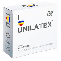 Разноцветные ароматизированные презервативы Unilatex Multifruits - 3 шт.